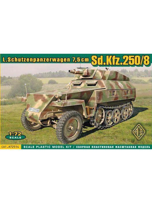 Ace - Sd.Kfz.250/8 Leichter Schutzenpanzerwage (7,5cm)