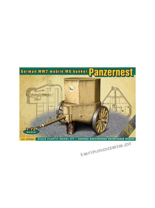 Ace - WWII German mobile MG bunker Panzernest