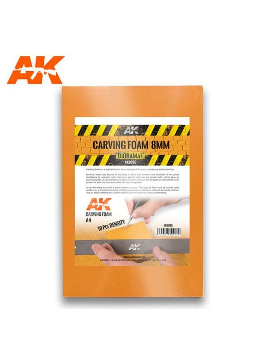 AK Interactive - CARVING FOAM 8MM A4 SIZE (305 x 228 MM)