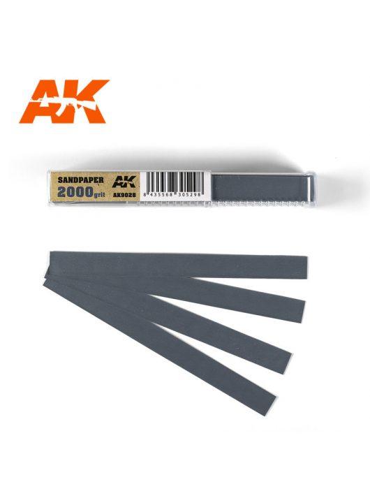 AK Interactive - Wet Sandpaper 2000 grit x 50 units