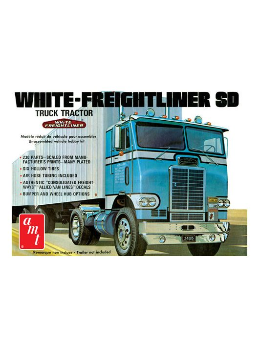 AMT - 1:25 - White Freightliner Single-Drive Tractor Cab