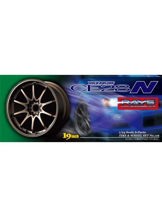 Aoshima - Volk Racing Ce28N wheel and tyres set