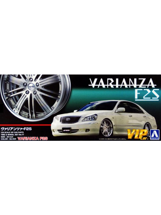 Aoshima - Varianza F2S 20 Inch wheel and tyres set