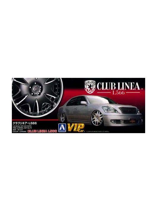Aoshima - Club Linea L566 20 Inch wheel and tyres set