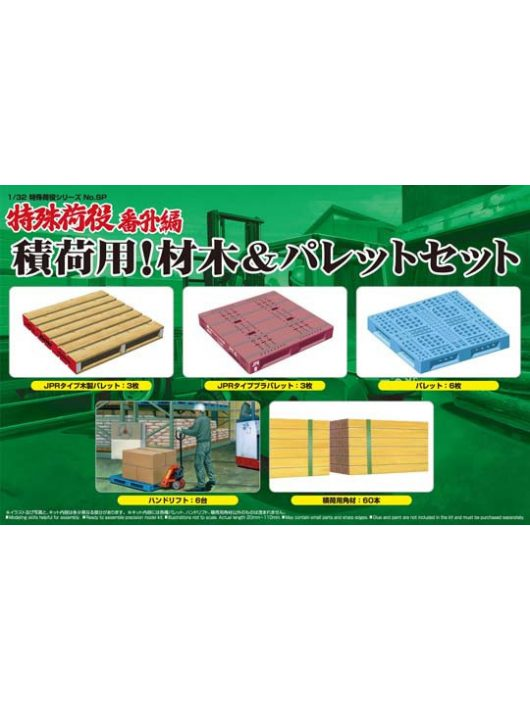 Aoshima - For Freight! Wood & Palette Set