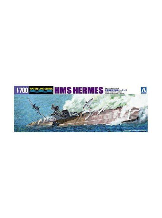 Aoshima - 1/700 British Aircraft Carrier HMS Hermes Battle of Ceylon Sea, plastic modelkit