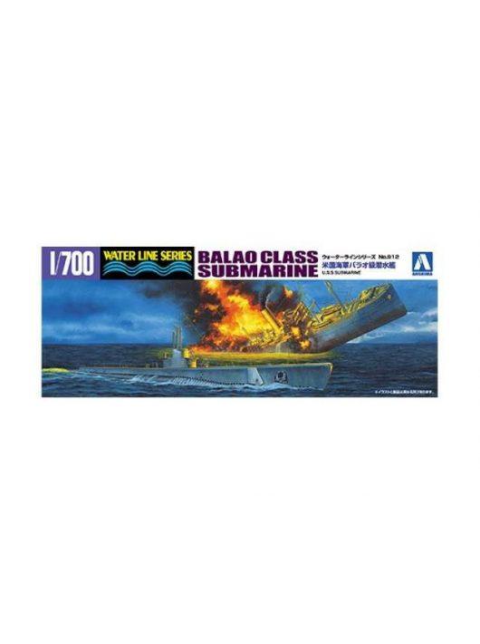 Aoshima - 1/700 US Navy Balao Class Submarine, plastic modelkit