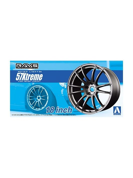 Aoshima - 1/24 Gram Lights 57 Extreme Wheels set 18 inch