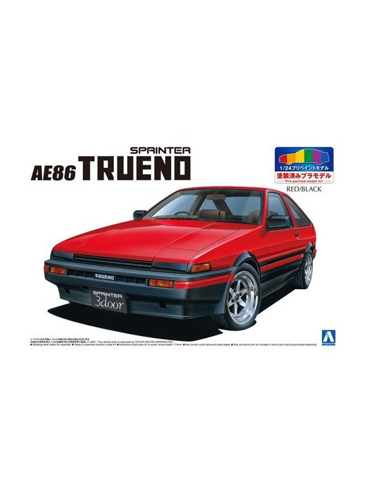 Aoshima - Toyota Ae86 Trueno 1983 Red Black