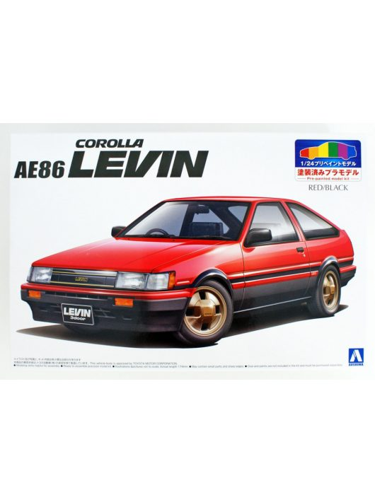 Aoshima - 1/24 1983 Toyota AE86 Levin pre-painted plastic modelkit
