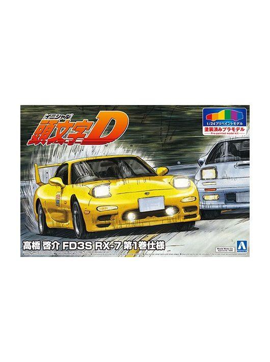 Aoshima - Mazda Initial D Takahashi Keisuke Fd3S Rx-7 Comics Vol.1 Version