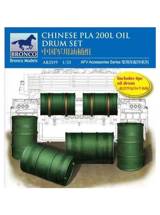 Bronco Models - Chinese PLA 200L Oil Drum set