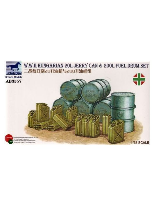 Bronco Models - WWII Hungarian 20L Jerry Can & 200L Fuel Drum
