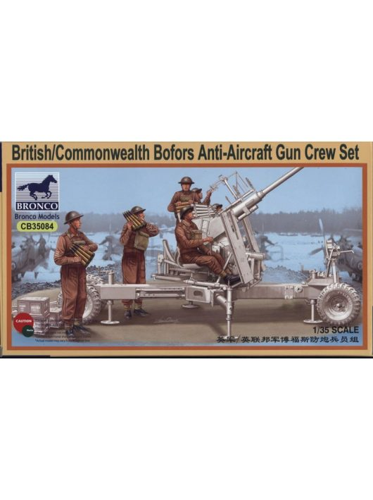 Bronco Models - British/Commonwealth Bofors Gun crew set