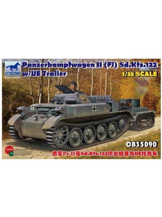Bronco Models - PzKpfw.II(F)Sd.Kfz.122 w/UE Trailer