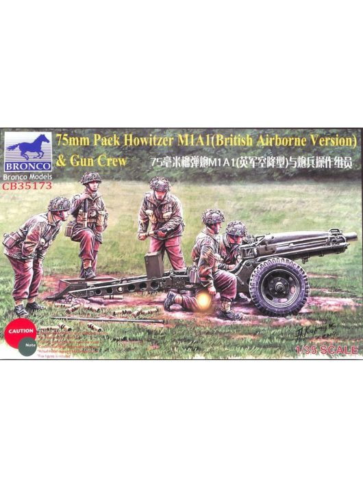 Bronco Models - 75mm Pack Howitzer M1A1(British Airborne Version) & Gun Crew