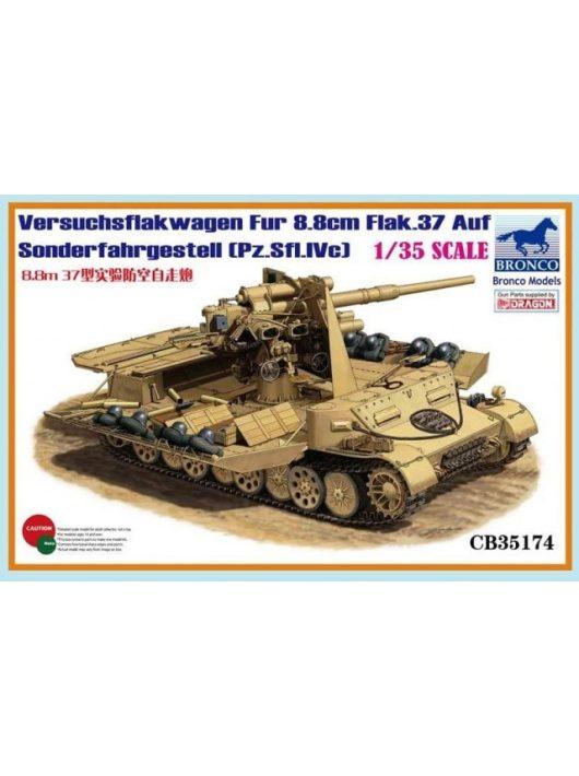 Bronco Models - Versuchsflakwagen 8.8cm Flak 37 auf Sonderfahrgestell(Pz.Sfl.IVc)