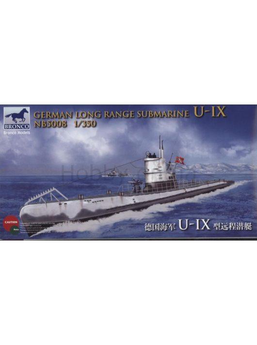 Bronco Models - German Long Range Submarine Type U-IX A