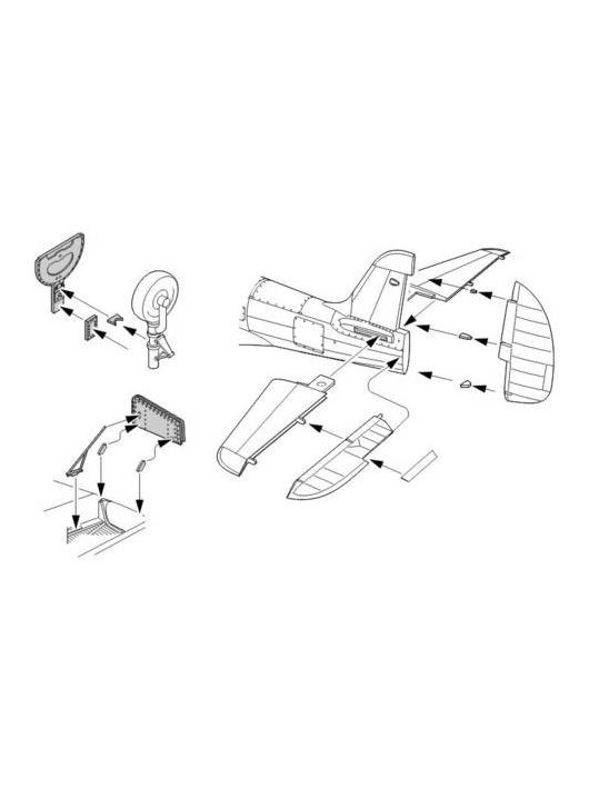CMK - P-400/P-39 Airacobra Exterior Set Resin Detail Set für Hasegawa-Bausatz