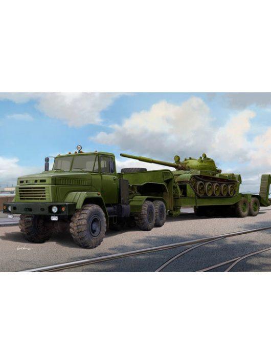 Hobbyboss - Ukraine KrAZ-6446 Tractor w.MAZ/ChMZAP- 5247G semitrailer