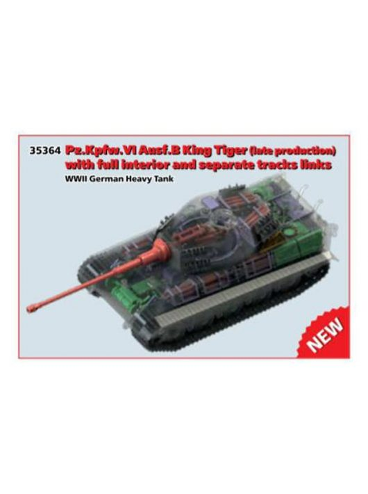 ICM - Pz.Kpfw. VI Ausf.B King Tiger late productioen with full interior