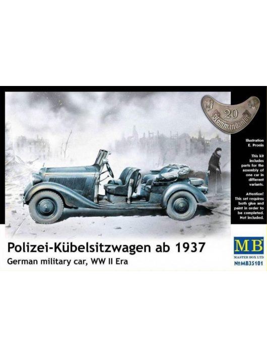 Master Box - Polizei-Kuebelsitzwagen ab 1937,German military car, WW II Era