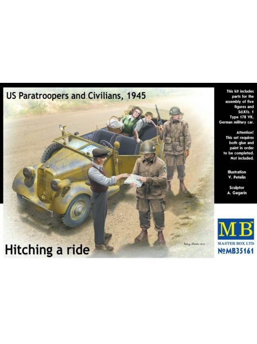 Master Box - Hitching a ride US Paratroopers and Civilians