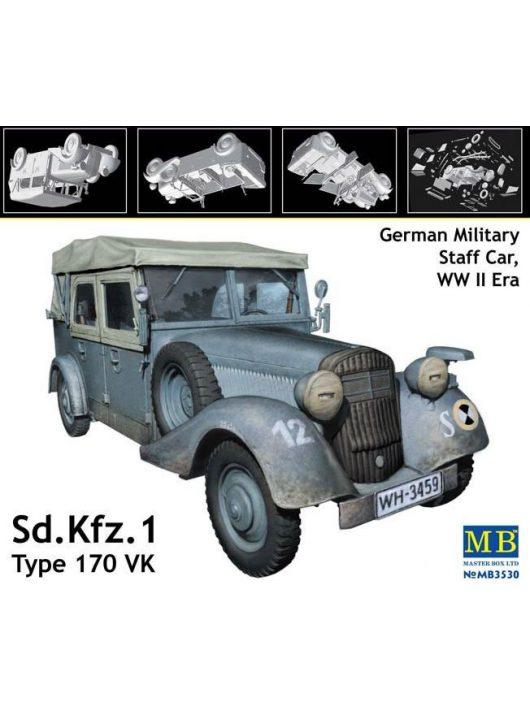 Master Box - Sd.Kfz. 1 Type 170 VK,German military staff car, WW II era