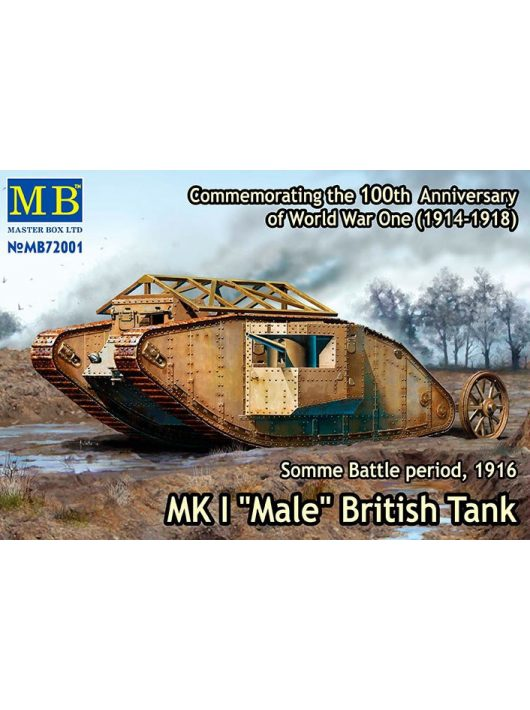 "Master Box - ""MK I Male"" British Tank, Somme Battle period, 1916"
