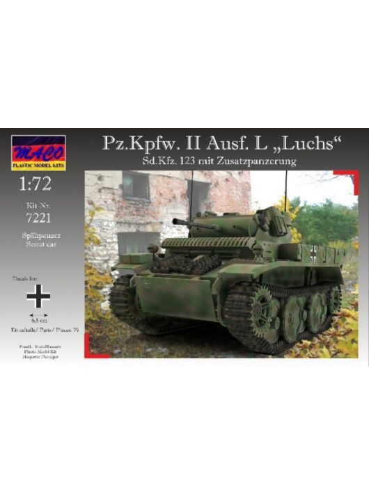 """MACO - Pz.Kpfw. II Ausf. L """"Luchs"""" with ad-armor"""
