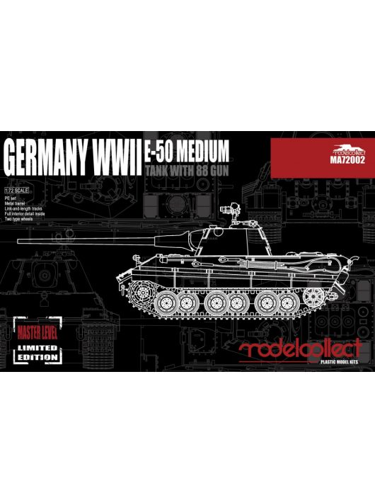 Modelcollect - Germany WWII E-50 Medium Tank with 88Gun