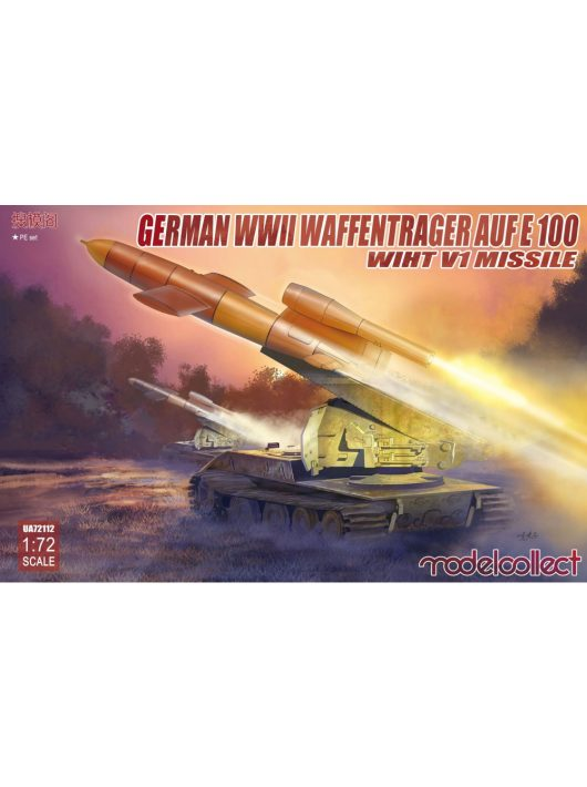 Modelcollect - German WWII E-100 panzer weapon carrier with V1 Missile launcher