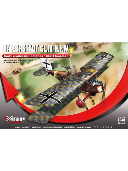 Mirage Hobby - Halberstadt CL.IV H.F.W.(Early productio production batches/Short fuselage