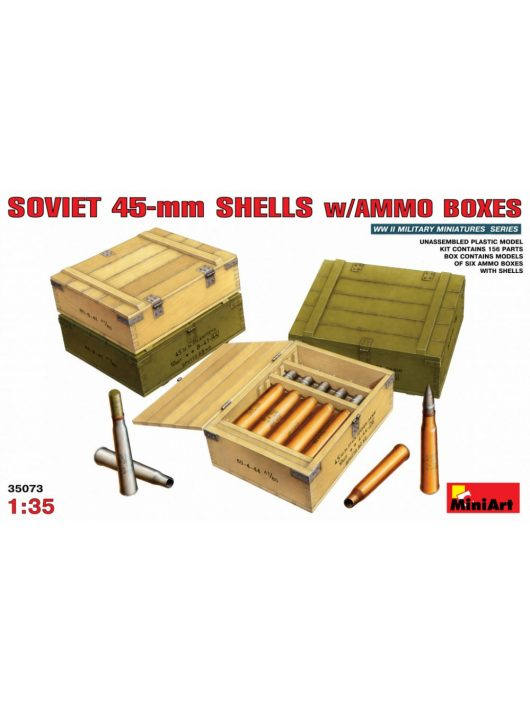 MiniArt - Soviet 45-mm Shells with Ammo Boxes