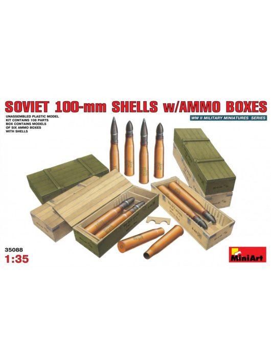 MiniArt - Soviet 100-mm Shells w/ Ammo Boxes