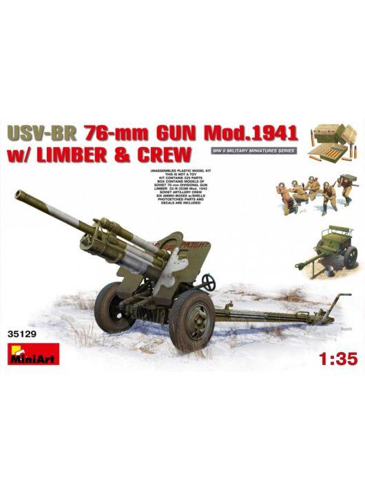 MiniArt - USV-BR 76-mm Gun Mod.1941 withLimber & Crew