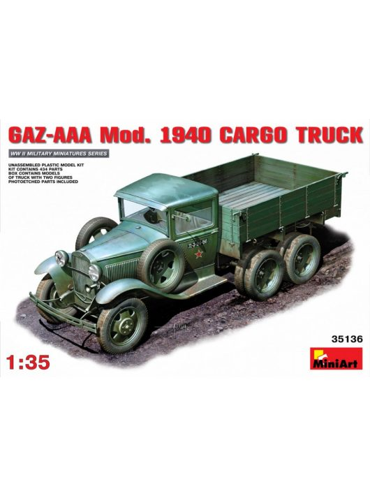 MiniArt - GAZ-AAA Mod 1940 Cargo Truck.