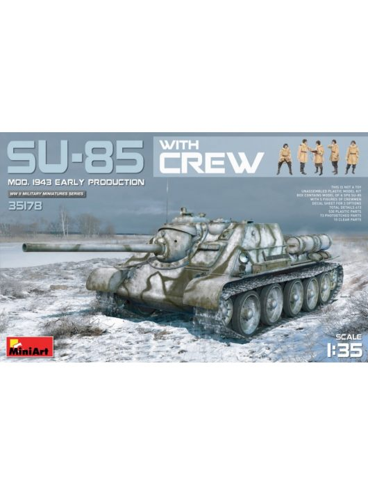 MiniArt - SU-85 Mod 1943 (Early Production) withCrew