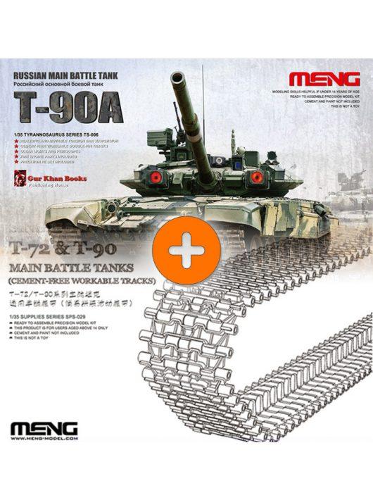 Meng model Russian Main battle tank T-90A + single pin track