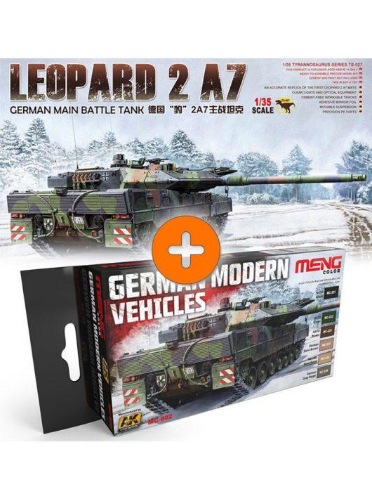 Meng Model - German Main Battle Tank Leopard 2 A7 + German Modern Vehicle colors
