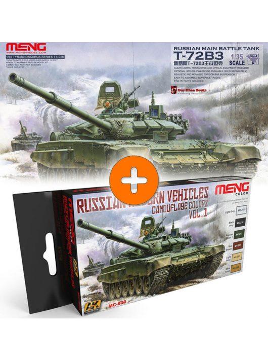 Meng Model - Russian Main Battle Tank T-72B3 +  Russian Modern Vehicles Camouflage Colors