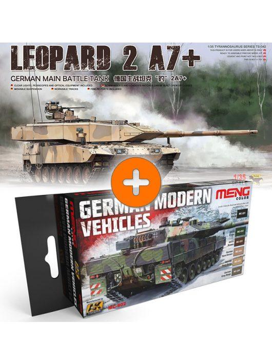 Meng Model - German Main Battle Tank Leopard 2A7 + German Modern Vehicles Colors Set