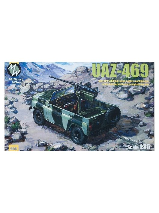 Military Wheels - UAZ-469 North alliance Afganistan