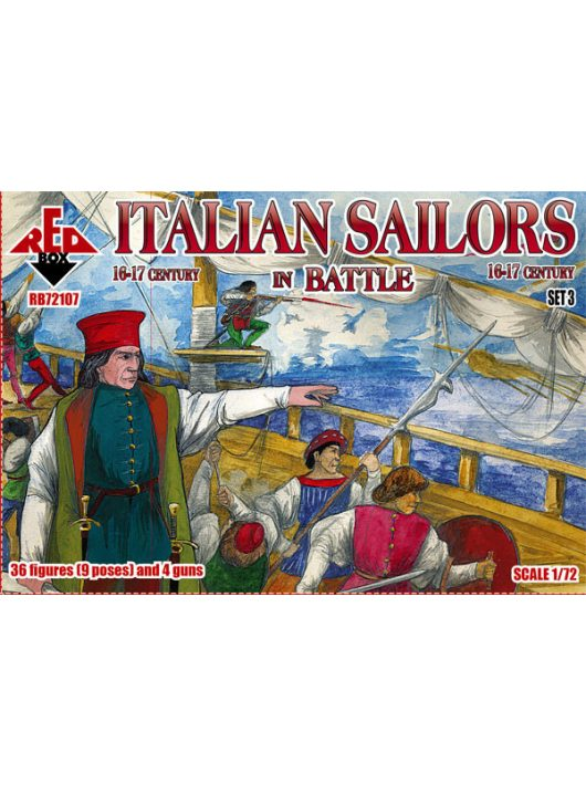 Red Box - Italian Sailors in Battle,16-17th centur set 3