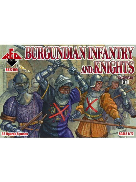 Red Box - Burgundian infantry a.knights,15th centu set 1