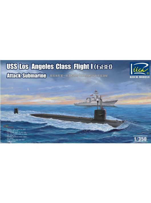 Riich Models - USS Los Angeles Class Flight I(688) Atta Attack Submarine