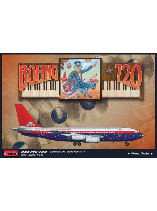 Roden - Boeing 720 Starship One Elton John Band tour 1974
