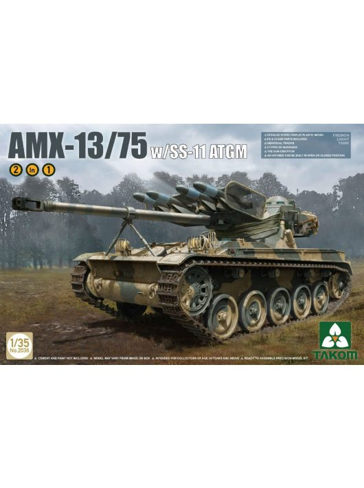 Takom - French Light Tank AMX-13/75 with SS-11 ATGM 2 in 1