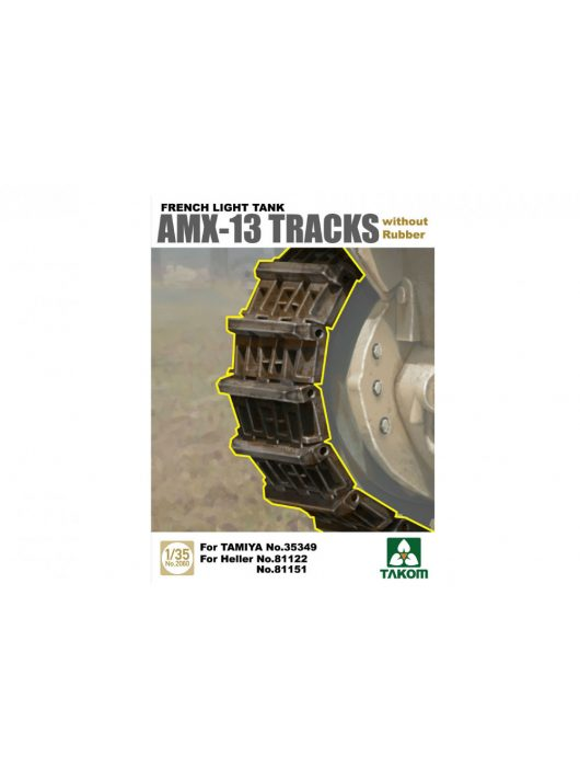 Takom - French Light Tank AMX-13 Tracks without Rubber