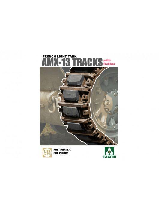 Takom - French Light Tank AMX-13 Tracks with Rubber